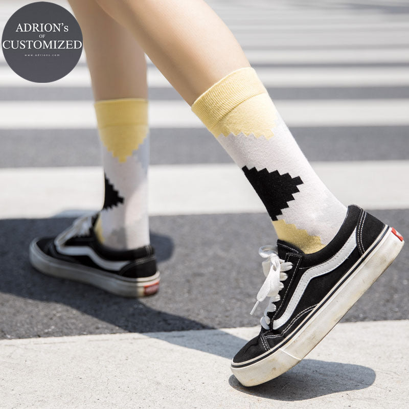 <5 Pairs Packed>Awesome Girls Skateboard Long Tube Socks - socksADRION's
