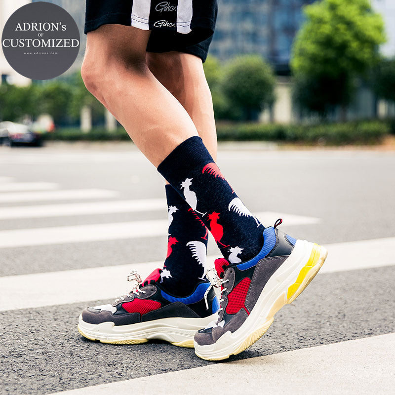<3 Pairs Packed>Awesome Boys Skateboard Long Tube Socks - socksADRION's