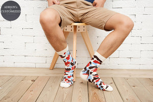 <6 Pairs Packed>Leaves Boys Casual Long Tube Socks - socksADRION's