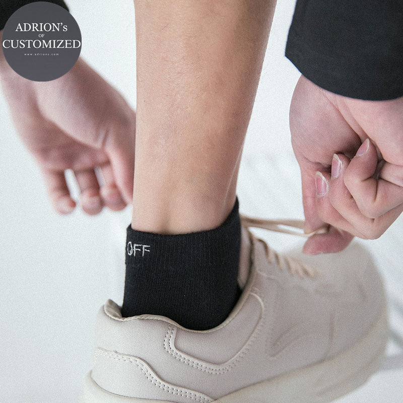 <3 Pairs Packed>Fuck Off Sports Cotton Boys Tube Socks - socksADRION's