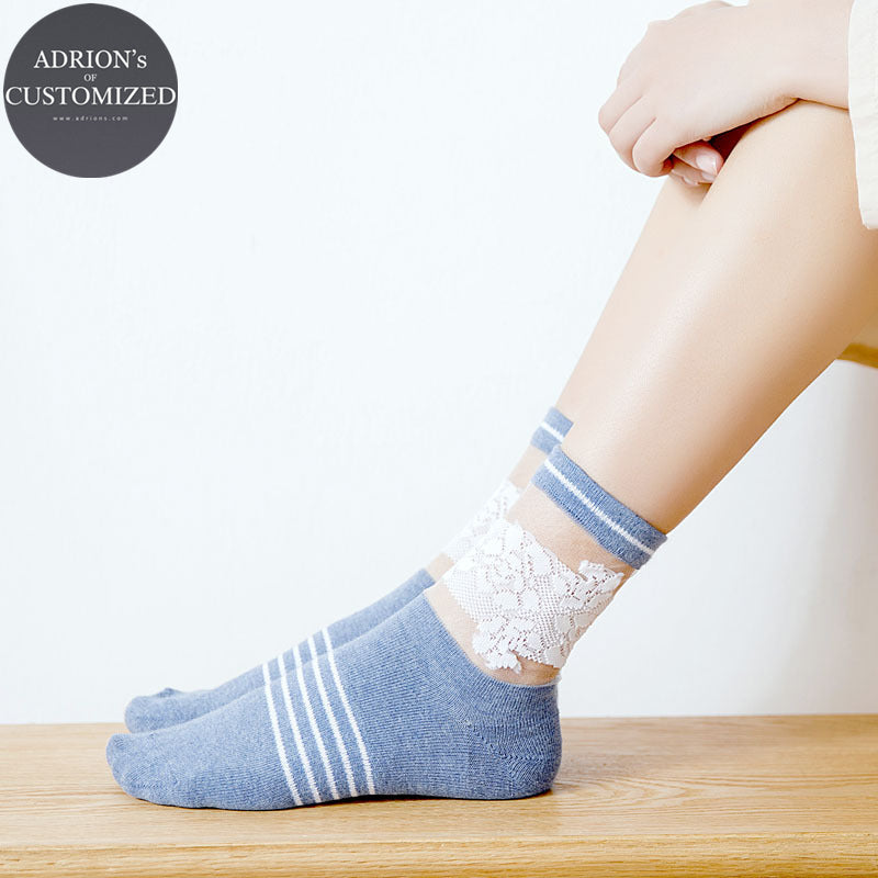 <3 Pairs Packed>Hot Office Lady LaceTube Socks - socksADRION's