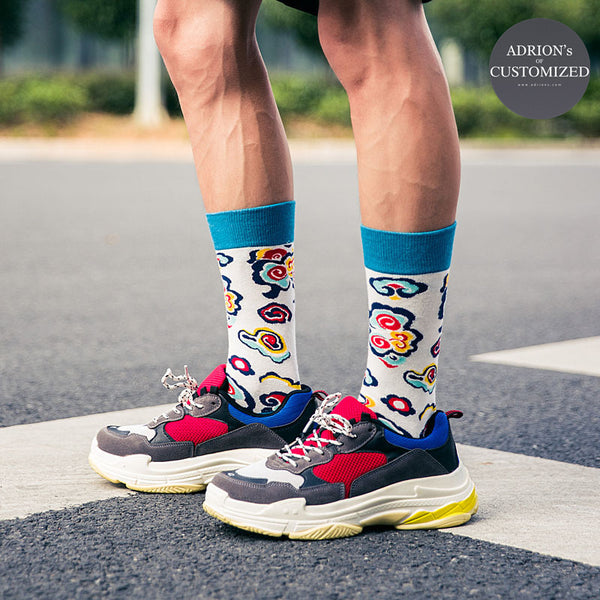 <3 Pairs Gift Box>Skateboard Power Design Socks - socksADRION's