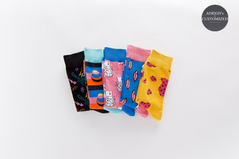 <5 Pairs Gift Box>Fruits Design Socks - socksADRION's