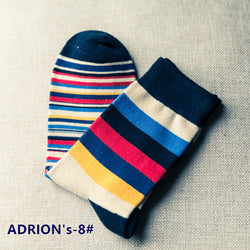 Mixed-Color Japan Style Cotton Socks - socksADRION's