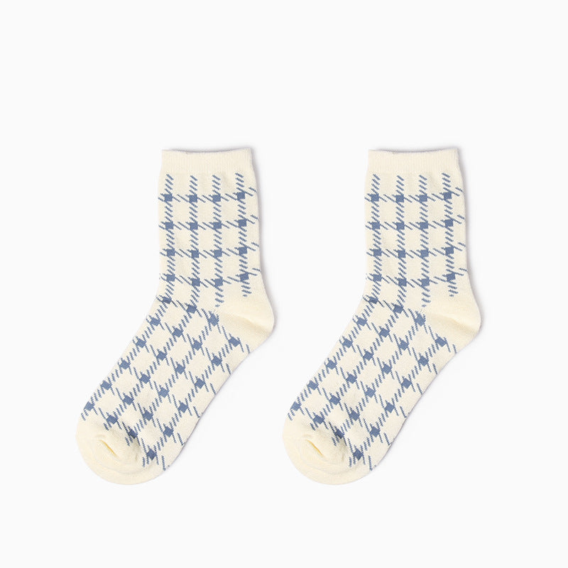 3 IN 1 Houndstooth Pattern Design Socks Box - socksADRION's