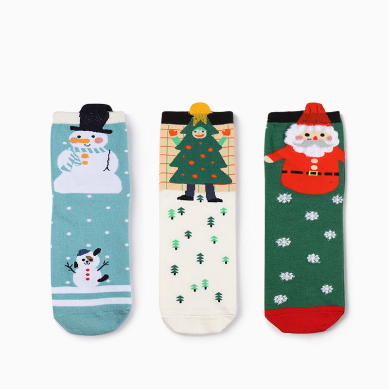 3 IN 1 Christmas Pattern Design Socks Box - socksADRION's
