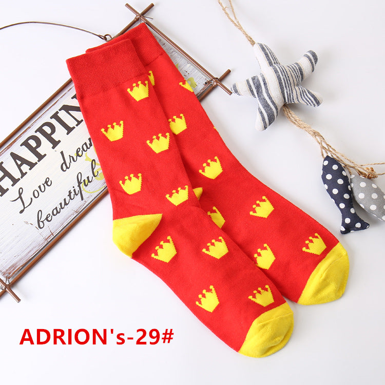 Colorful Pattern Cotton Socks - socksADRION's