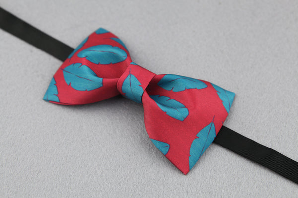 Mixed Color Leaf Hand-Made Self Tie Bow Ties - socksADRION's