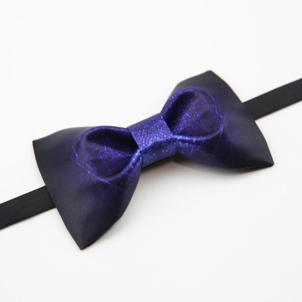 Dark Mid-Night Hand-Made Self Tie Bow Ties - socksADRION's