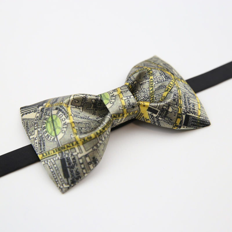 Map of London Hand-Made Self Tie Bow Ties - socksADRION's