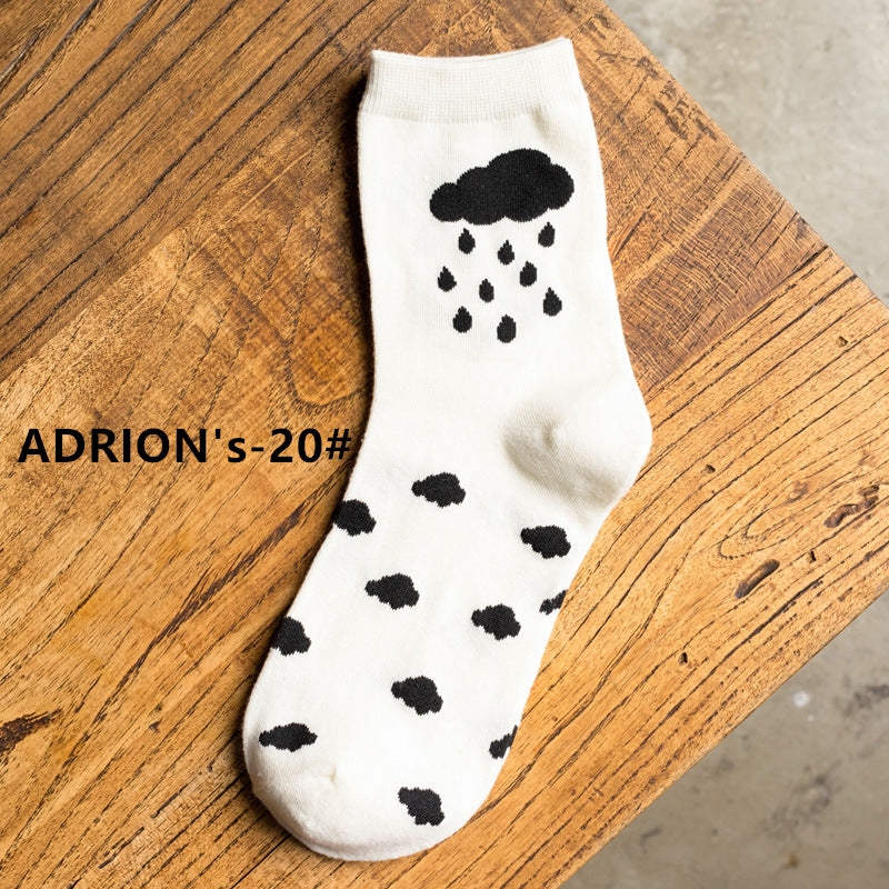 Artist Bright Color Design Cotton Socks - socksADRION's