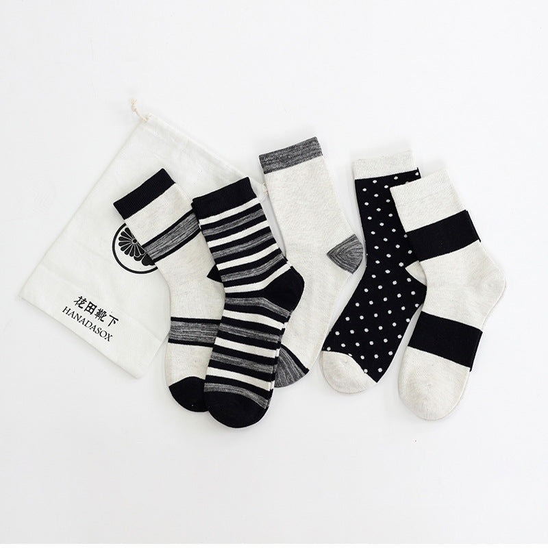 5 IN 1-Artist Simple Pattern Design Socks - socksADRION's