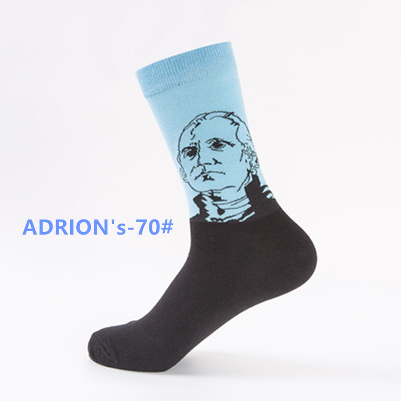 Creative Portrait Design Socks Ablum - socksADRION's