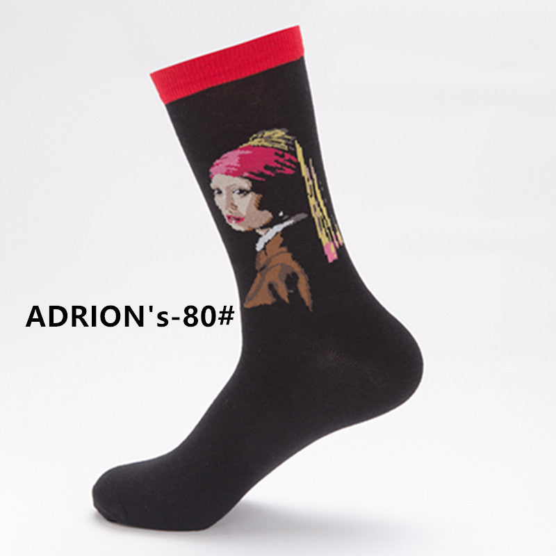 Classical Artist Painting Design Socks Ablum - socksADRION's