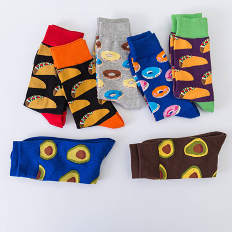 7 IN 1-Artist Mixed Fruits Pattern Design Socks - socksADRION's