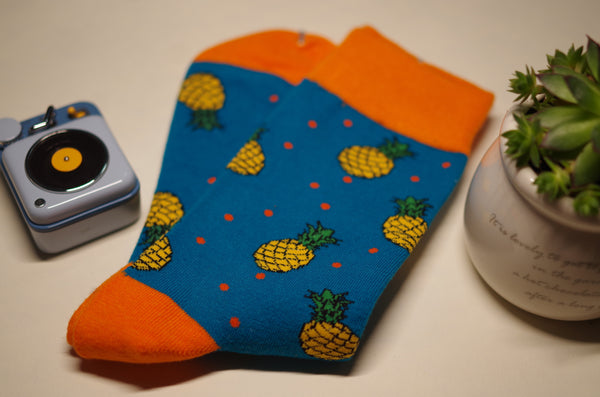 ADRION's Pineapple Comfy Socks 🍍--Buy 2 Pairs Get a FREE Avocado Socks! - socksADRION's