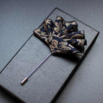 Hand Made Elegant Embroidery Silk Flower Label - socksADRION's