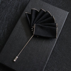 Hand Made Black Secret Style Flower Label - socksADRION's