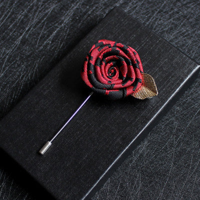 Hand Made Red&Black Flower Label - socksADRION's