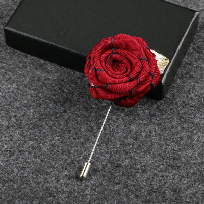 Hand Made Red Rose Design Flower Label - socksADRION's