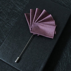 Hand Made Elegant Pure Purple Silk Flower Label - socksADRION's