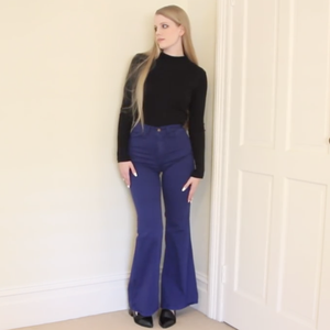 American Apparel Flare Wide Leg Jeans