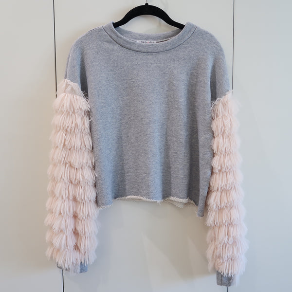 Pastel Furry Sleeved Sweatshirt