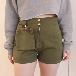 Utility Shorts with Waist Bag