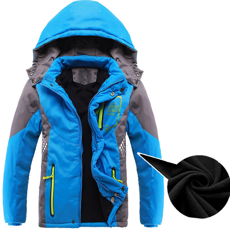 Boys Warm Double-Deck Waterproof Windproof Thicken Jackets