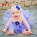 Girls Rainbow Fairy Tutu Dress Fluffy Baby Dress with Matching Headband