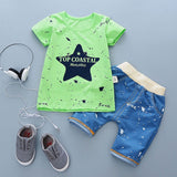 Baby Boys Fashion Cartoon Cotton Summer Clothing Sets
