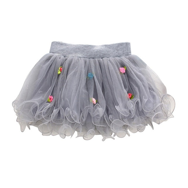 Girls Princess Tutu Ball Gown Puffy Skirt