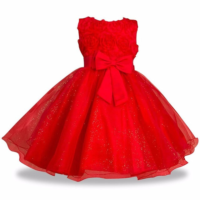 Girls Summer Style Sleeveless Ball Gown Dress