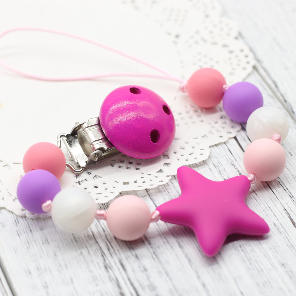Pacifier Clip Holder  & Baby Silicone Teether