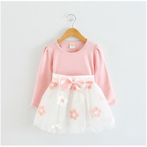 Winter Cotton Flower Baby Girls Dress