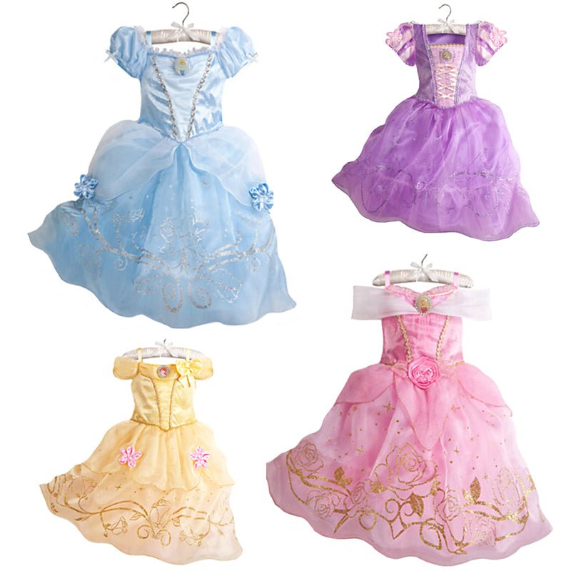 Girls Cindrella , Snow White Cosplay Costume Princess Dress