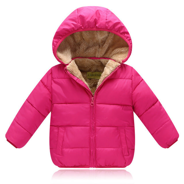 Boys Winter Thick Velvet  Warm Padded Jacket
