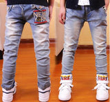 Boys Spring Solid Thin Denim Causal Jeans