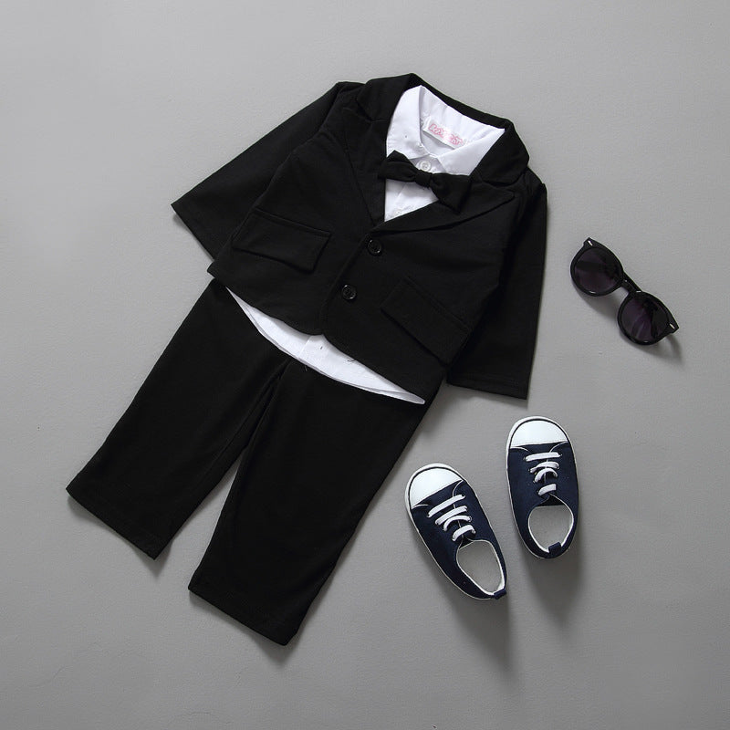 Gentleman Baby Infant Boys Suit (Jacket+Shirt+Pants)