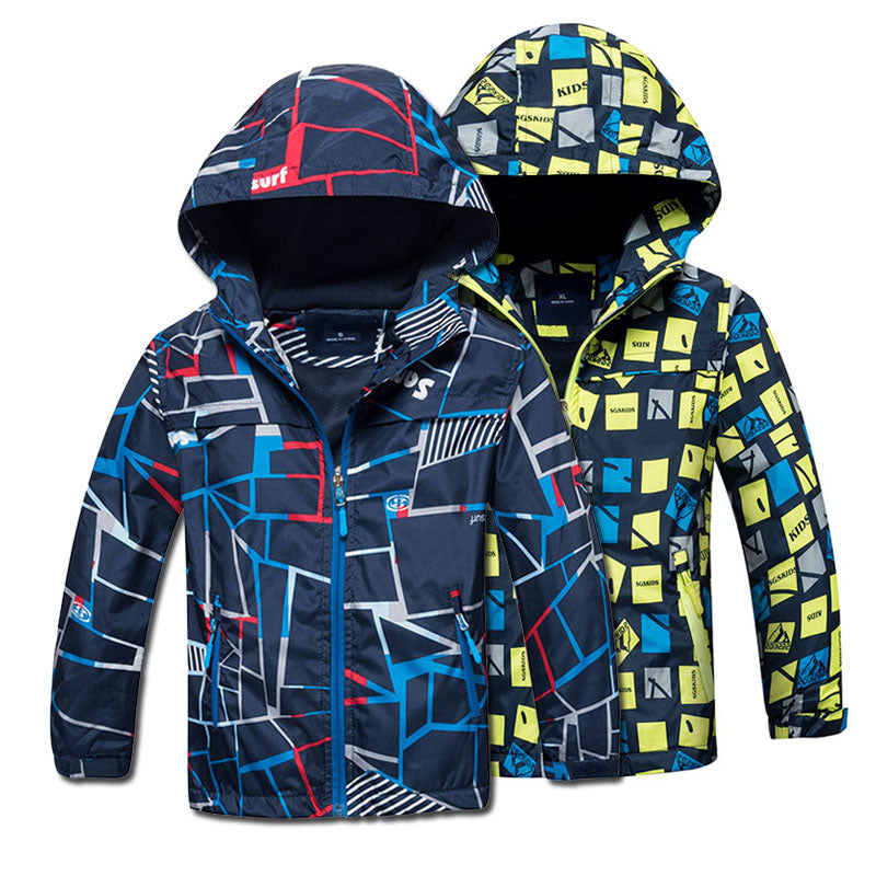 Boys Spring Autumn Polar Fleece Children Waterproof & Windproof Outerwear
