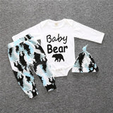 Baby Boys Long-Sleeved Romper + Trousers + Hat Clothing Set