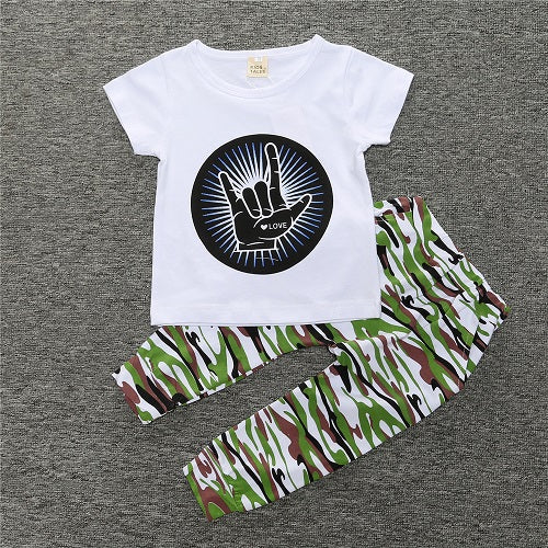 Baby Boy's Short-Sleeved Fashion Clothing Set
