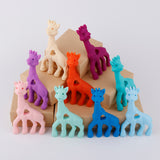 BPA Free Silicone Original Silicone Giraffe Teether Toy