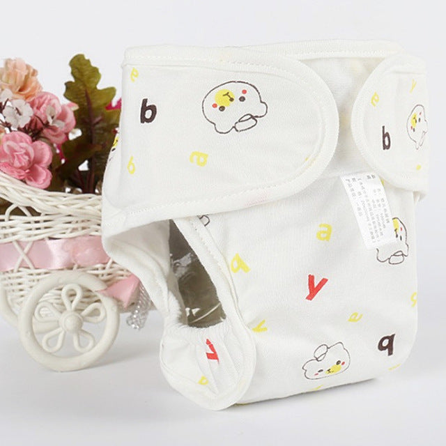 Pure Cotton Waterproof Baby Reusable  & Washable Diaper