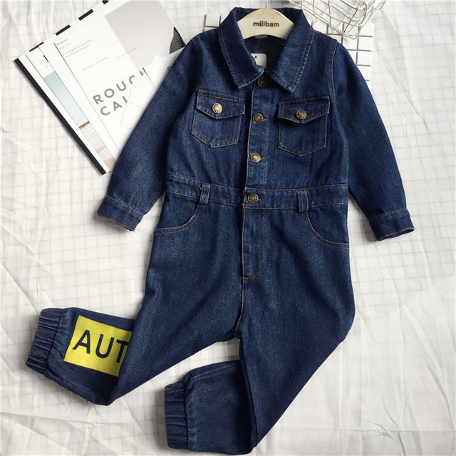 Boys Fashion Kids Denim Jumpsuit