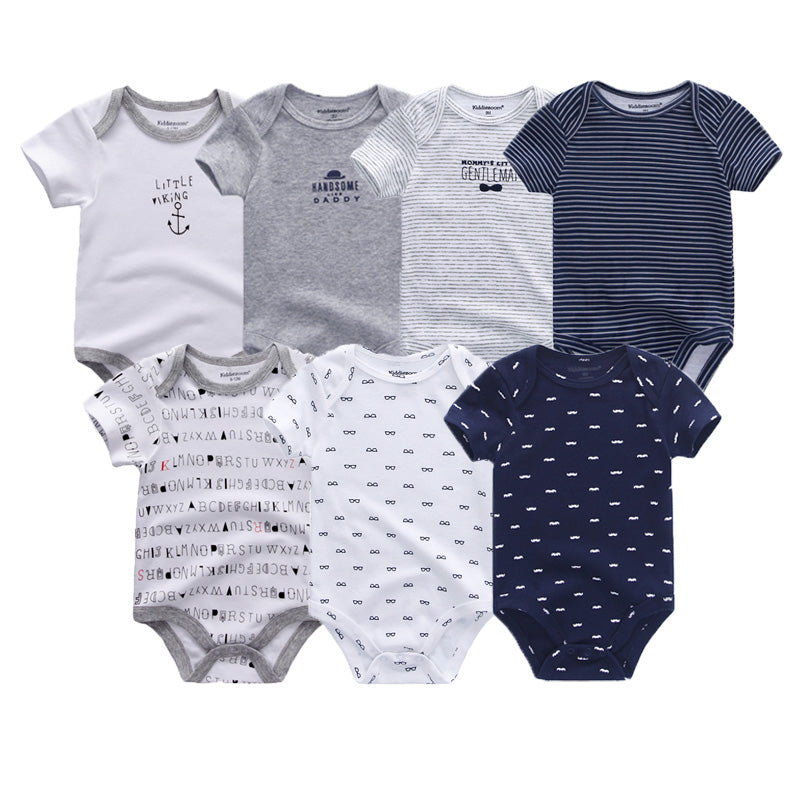 7 PCS/lot Baby Boys Summer Cotton O Neck Jumpsuit