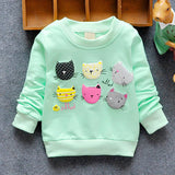 Winter Spring Autumn Printed Long Sleeves Girls Sweatshirt
