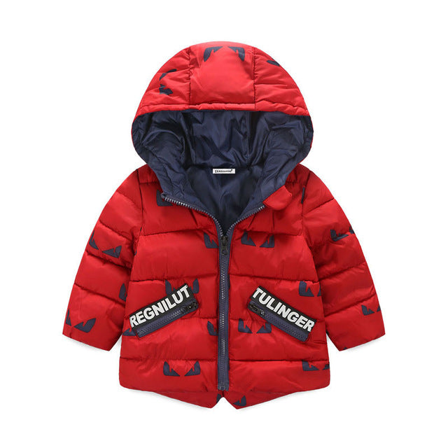 Boys Winter Sports Hooded Outerwear