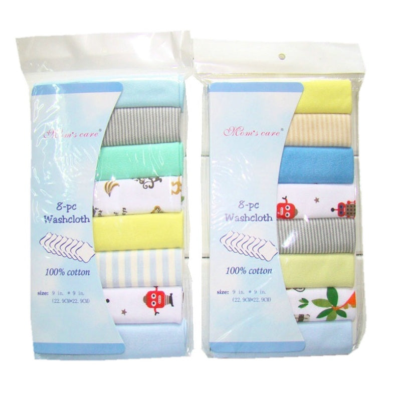 100% Cotton Newborn Baby Towels (8pcs/Pack)