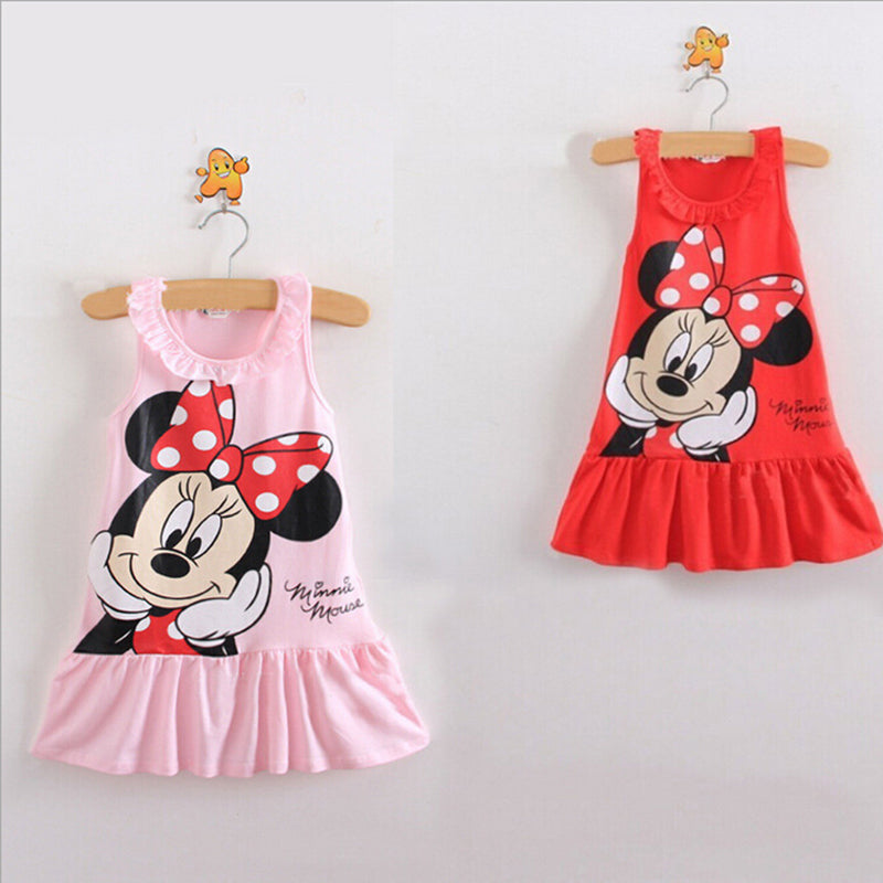 Baby Girls Minnie Without Sleeve Dress